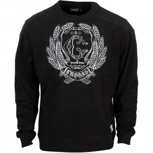 Crooks and Castles Men The Monolithic Empire Sweater (black)