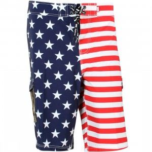 DGK Men Americana Bored Short (red / white / blue)