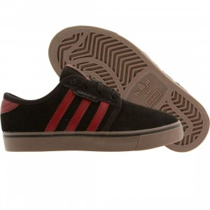 Adidas Skate Little Kids Seeley J (black / burgundy)