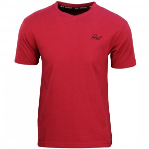 BAIT Men Core V-Neck Tee (burgundy)
