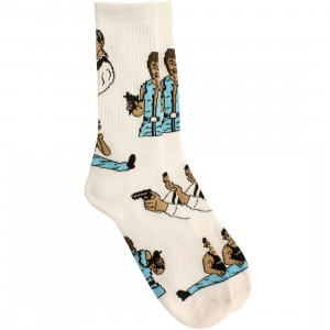 40s and Shorties Action Heroes Socks (white) 1S