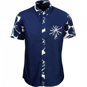 Acapulco Gold Men Oahu Short Sleeve Shirt (blue / white)
