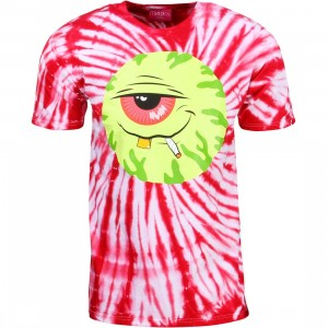 Mishka Men Stoney Baloney Tie Die Tee (red)