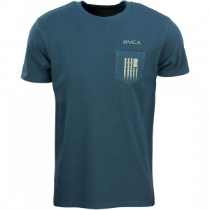 RVCA Men Flag Bolt Tee (blue / midnight)