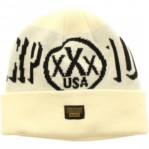 10 Deep DXXP Beanie (white / off white)