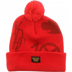 10 Deep Full Clip Beanie (red)