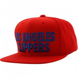 Mitchell And Ness Los Angeles Clippers NBA Current Title Snapback Cap (red / blue)