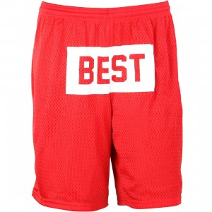 Breezy Excursion Men Best Block Shorts (red)