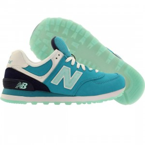 New Balance Women 574 Glacial (teal / navy)