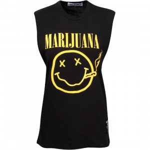 HLZBLZ Women Marijuana Tee (black)