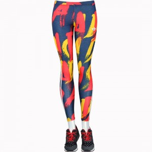 Adidas Women Paris Print Leggings (navy / multi)