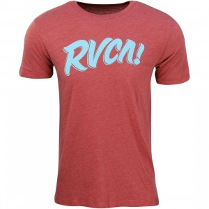 RVCA Men Big Exclamation Tee (red)