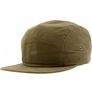 Obey Comstock 5 Panel Adjustable Cap (green / army)