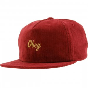 Obey Ashby Adjustable Cap (burgundy)