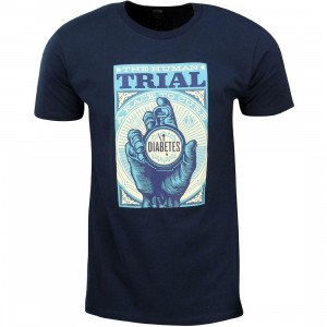 Obey Men The Human Trial Tee (navy)