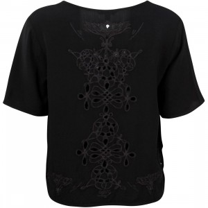 Obey Women Essex Woven Tee (black)