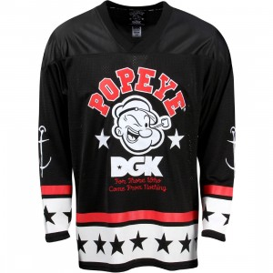 DGK x Popeye Men Strong To The Finish Hockey Jersey (black)