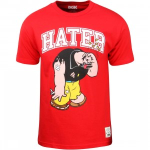 DGK x Popeye Men Hater Tee (red)