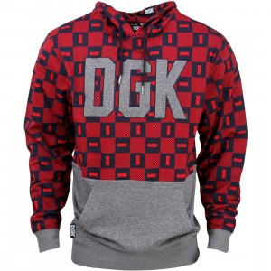 DGK Men Checkers Custom Knit Hoody (red)