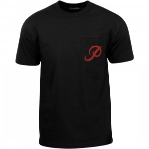 Primitive Men Classic P Pocket Tee (black)