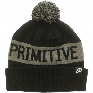 Primitive Block Pom Beanie (black)