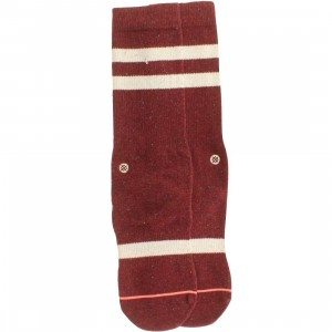 Stance Women Coyote Socks (burgundy / maroon) 1S