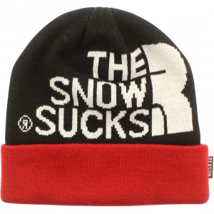 Reason Snow Sucks Beanie (black / red)
