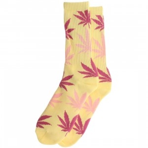 HUF Plantlife Crew Socks (yellow / banana) 1S