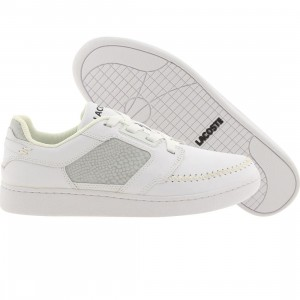 Lacoste Stealth Tiller S Croc (white / silver)