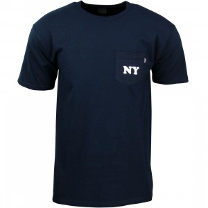 HUF Men Cities Pocket Tee (navy)