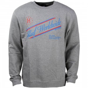 HUF Men Athletics Crewneck Sweater (gray / heather)