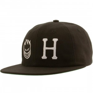 HUF x Spitfire 6 Panel Cap (black)