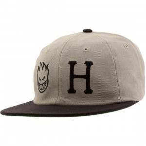 HUF x Spitfire 6 Panel Cap (gray)