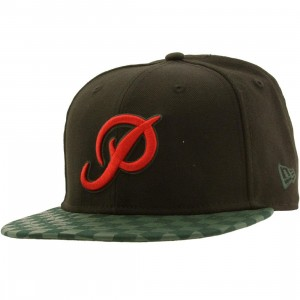 Primitive Checkered Classic P Snapback Cap (black)