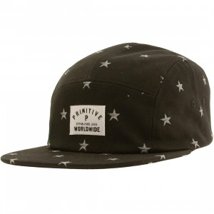 Primitive North Star Five Panel Adjustable Cap (black)