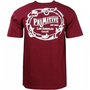 Primitive Men Wrangler Tee (burgundy)