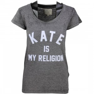 Eleven Paris Women Fatwom Kate Religion Tee (gray / burn out black)