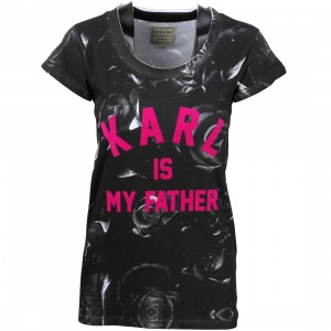 Eleven Paris Women Farlaman Karl Tee (black / print)