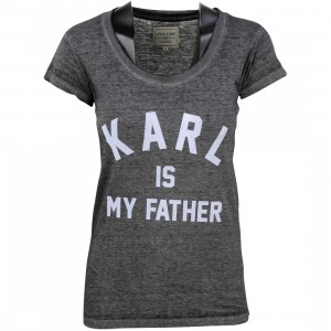 Eleven Paris Women Farlaman Karl Tee (gray / burn out black)