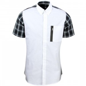 Unyforme Men Hoffman Woven Short Sleeve Shirt (white)