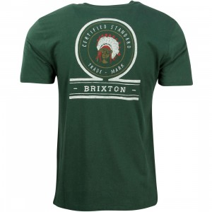 Brixton Men Crow Tee (green)