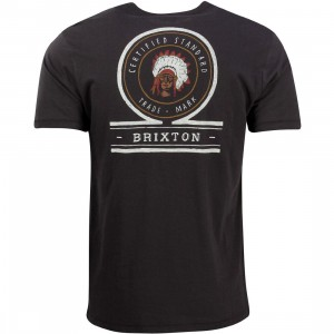 Brixton Men Crow Tee (black / washed)