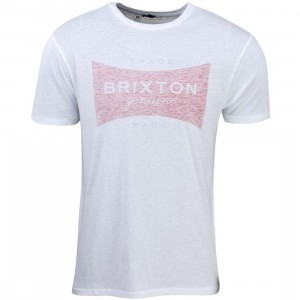 Brixton Men Ramsey Tee (white / navy / red)