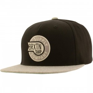 Brixton Sledd Snapback Cap (black / light gray)