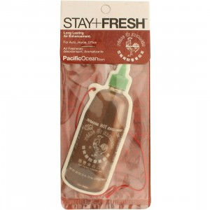 BAIT x Sriracha Stay Fresh Hot Chili Sauce Air Freshener - Pacific Ocean Scent (red)