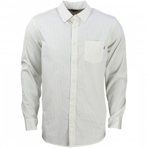 Obey Men Cilo Woven Shirt (white / cream multi)