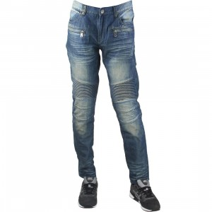 Embellish NYC Men Spur Biker Denim Jeans (blue / stone wash)