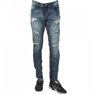 Embellish NYC Men Ingrid Ripped Denim Jeans (blue / medium)