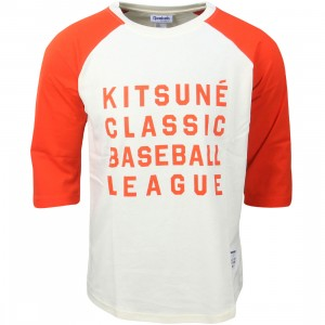 Reebok x Kitsune Men Baseball Tee (orange / white)