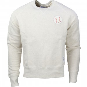 Reebok x Kitsune Men Baseball Crew Neck Sweater (white)
